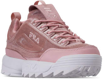 Fila Women Disruptor Ii Premium Velour Casual Athletic Sneakers from Finish Line