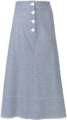 Joseph striped A-line midi skirt