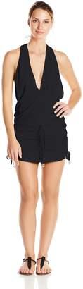Luli Fama Women's Cosita Buena T-Back Mini Cover Up Dress