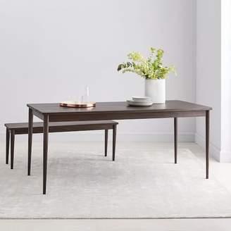west elm Modern Farmhouse Dining Table - Dark Mineral