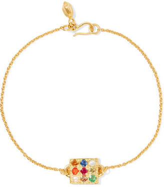 Pippa Small 18-karat Gold Multi-stone Bracelet