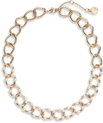 Vince Camuto Faux Pearl Link Necklace