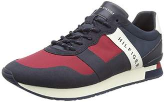 Tommy Hilfiger Men''s Printed Material Mix Runner Low-Top Sneakers