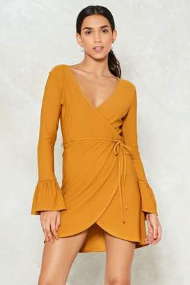 Nasty Gal Make an Effort Wrap Dress