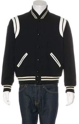 Saint Laurent Teddy Varsity Jacket