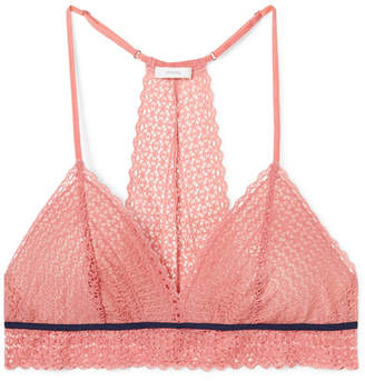 Eberjey The Merry Me Stretch-lace And Tulle Soft-cup Triangle Bra - Antique rose