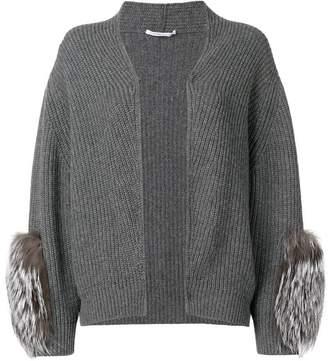 Agnona fur sleeved cardigan