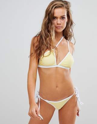 fe2a133fae47f In The Style Sarah Ashcroft contrast tie side bikini bottoms