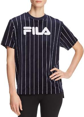 Fila Tux Velour Pinstriped Tee