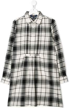 Ralph Lauren Kids checked shirt dress