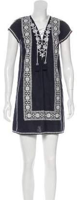 Calypso Linen Embroidered Dress