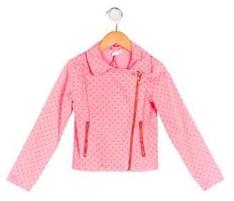 Billieblush Girls' Printed Zip-Up Jacket