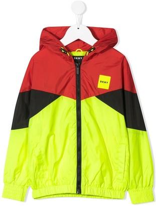 DKNY zip-up rain jacket