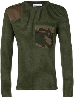 Gosha Rubchinskiy camo pocket ribbed sweater