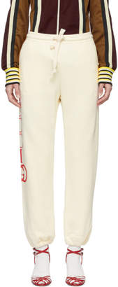 Gucci White Interlock GG Lounge Pants