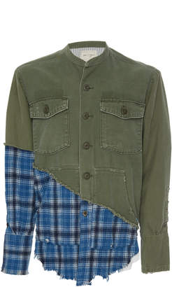 Greg Lauren Army Plaid Studio Shirt