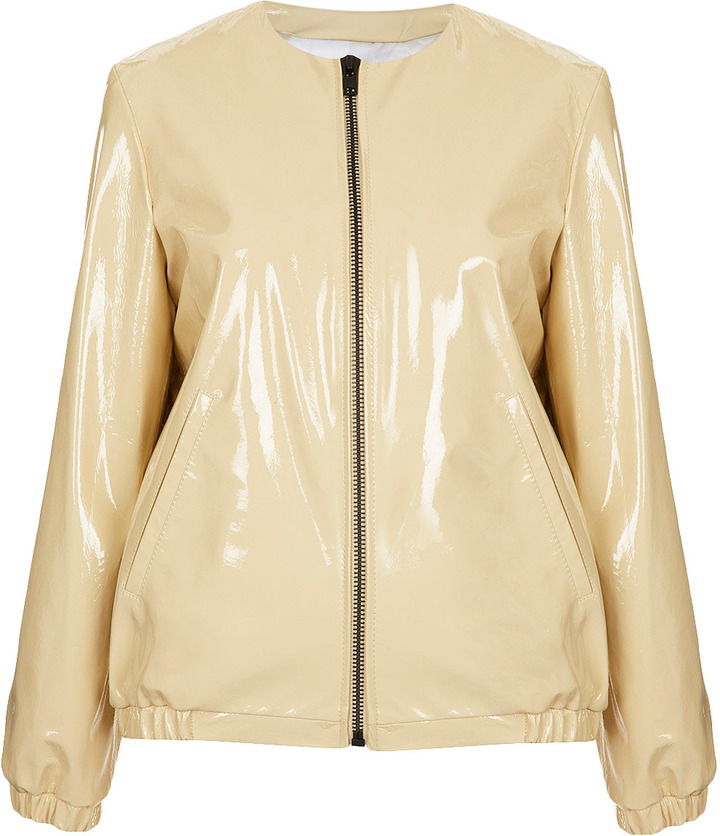 J.W.Anderson **Patent Leather Jacket By For Topshop