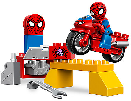 Spider-Man Web-Bike Workshop LEGO Duplo Playset