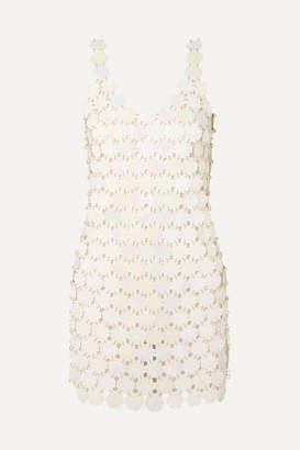 Paco Rabanne Sequined Mini Dress - Cream
