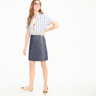 Scalloped chambray skirt $88 thestylecure.com