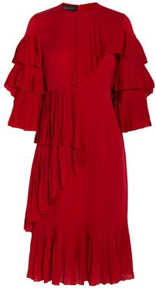 Gucci Pleated Ruffle Dress