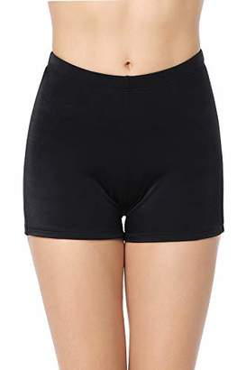 Trunks Marina Threads Womens Board Short Bathing Suits Black Swim Thigh Length UPF surf Pants