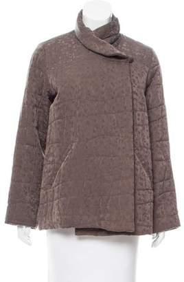 Eileen Fisher Leaf Print Silk Jacket