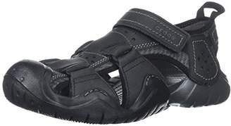 Crocs Men's Swiftwater Leather Fisherman M Flat Sandal