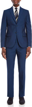 John Varvatos Two-Piece Blue Solid Suit