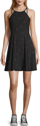 Arizona Sleeveless Fit & Flare Dress-Juniors
