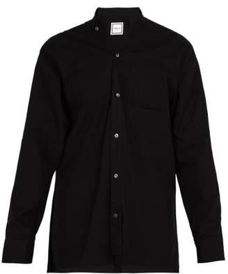 Wooyoungmi Slit Hem Cotton Shirt - Mens - Black