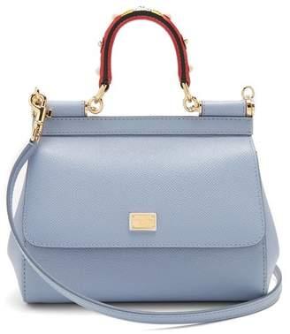 Dolce & Gabbana Sicily Small Cross Body Bag - Womens - Light Blue