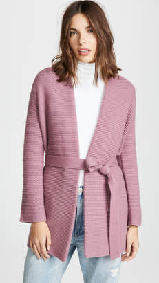 TSE Chunky Cashmere Robe Cardigan with Belt