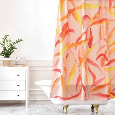Rosie Brown Autumn Leaves Shower Curtain
