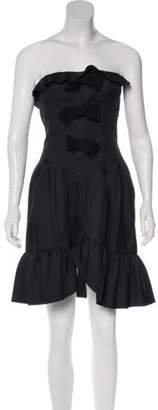 Giambattista Valli Strapless Silk Dress Black Strapless Silk Dress