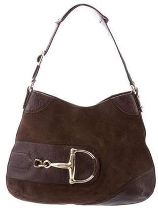 Gucci Guccissima Suede Hasler Hobo brown Guccissima Suede Hasler Hobo