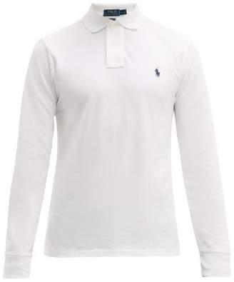 Polo Ralph Lauren Long Sleeve Slim Fit Cotton Polo Shirt - Mens - White