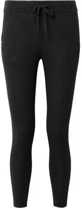 James Perse Ribbed Cashmere Leggings - Black