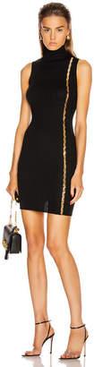 Versace Turtleneck Sleeveless Mini Dress in Black   FWRD