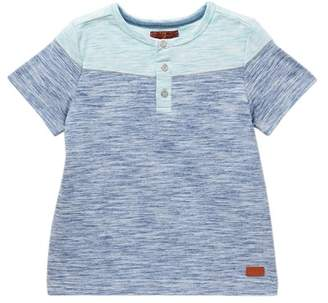 7 For All Mankind Two-Tone Henley (Little Boys)