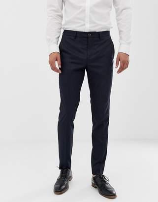 Jack and Jones slim suit pants in navy pinstripe