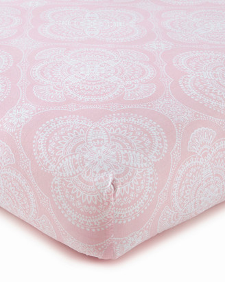 Levtex Willow Medallion Fitted Crib Sheet, Pink