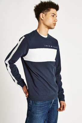Jack Wills Dalling Colour Block Sweatshirt