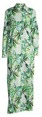 Eywasouls Malibu Women's Christina Palm Leaf Maxi Dress