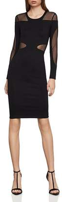 BCBGMAXAZRIA Mesh-Inset Sheath Dress