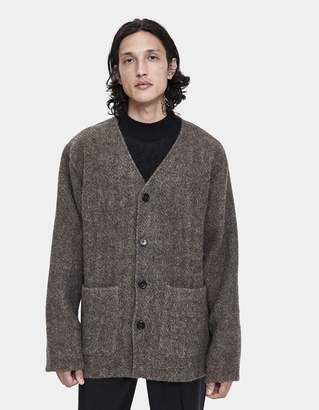 Our Legacy Cardigan Sweater in Alpaca Blanket Brown