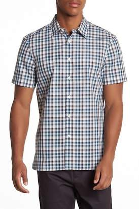 Perry Ellis Casual Plaid Short Sleeve Slim Fit Shirt