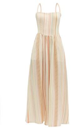 Ace&Jig Kennedy Tie Back Striped Cotton Dress - Womens - Ivory Multi