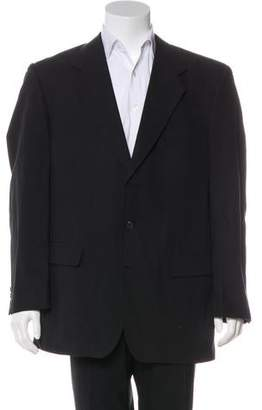 Hardy Amies Woven Three-Button Blazer