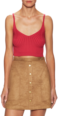 Swit Cotton Ribbed Crop Camisole